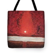 Sea And Moon Tote Bag