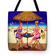 Sea For Two - Girlfriends At Beach Tote Bag