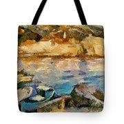Sea Front On Mediterranean Sea Tote Bag