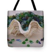 Sea Glass In Clam Shell - No 1 Tote Bag