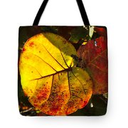 Sea Grape Leaves Tote Bag