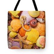 Sea Horse Starfish And Seashells  Tote Bag