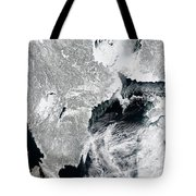 Sea Ice Lines The Coasts Of Sweden Tote Bag