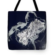 Sea Ice Surrounds The Volcanic Island Tote Bag by Stocktrek Images
