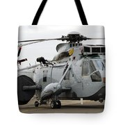 Sea King Helicopter Of The Royal Navy Tote Bag