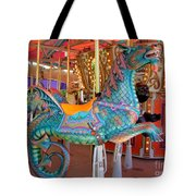 Sea Serpent Carousel Ride Tote Bag