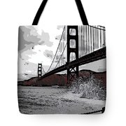 Sea Spray Under The Golden Gate Bridge Tote Bag