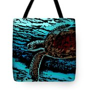 Sea Turtle Swimming Tote Bag