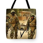 Seabees Conduct A Mass Casualty Drill Tote Bag