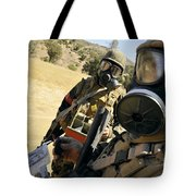 Seabees Conduct Decontamination Wash Tote Bag