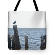 Seagull On A Post Tote Bag