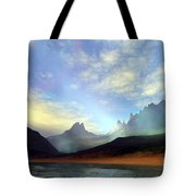 Seagulls Fly Near A Beautiful Island Tote Bag by Corey Ford