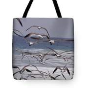 Seagulls Fly Over Surf Tote Bag