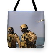 Seals Aboard A Rigid-hull Inflatable Tote Bag by Stocktrek Images