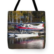Seaplane On Moosehead Lake In Maine Canvas Photo Poster Print Tote Bag