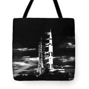 Searchlights Illuminate This Nighttime Tote Bag