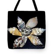 Seashell Floral Tote Bag