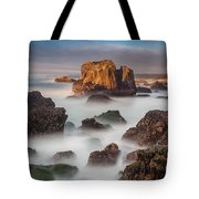 Seastacks In The Mists Tote Bag