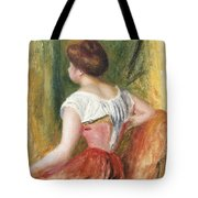 Seated Young Woman Tote Bag by Pierre Auguste Renoir