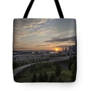 Seattle Arrival Sunset Tote Bag