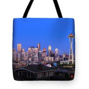 Seattle Skyline 3 Tote Bag