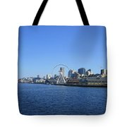 Seattle Waterway Cityscape Tote Bag