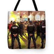 Security And Lights Tote Bag