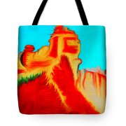 Sedona Hills - Fire At Sunset - Arizona Tote Bag