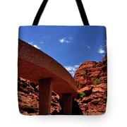 Sedona Man Vs Rock Contrast Tote Bag