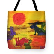 Seeing Rabbits Tote Bag