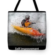 Self Improvement With Caption Tote Bag