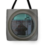 Self Portrait In A Circular Glass On The Wall Tote Bag