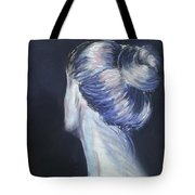 Self Portrait Of Artist In Pastel Tote Bag