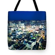 Sendai Train Station By Night Tote Bag