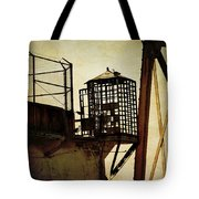 Sentry Box In Alcatraz Tote Bag by RicardMN Photography
