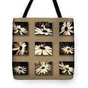 Sepia Daisy Flower Series Tote Bag by Sumit Mehndiratta