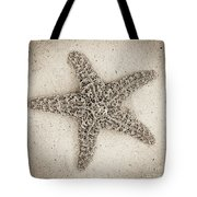 Sepia Starfish Tote Bag