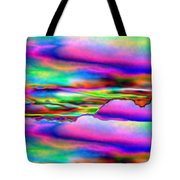September Sunrise Abstract Tote Bag