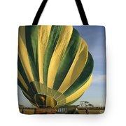 Serengeti Hot Air Baloon Inflating Tote Bag