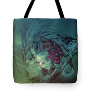 Serpent Head Tote Bag by Linda Sannuti