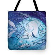 Seven Ichthus And A Heart Tote Bag by J Vincent Scarpace