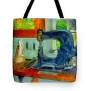 Sewing Machine In Harness Room Tote Bag