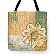 Shabby Chic Floral 2 Tote Bag