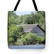 Shack On The River Tote Bag