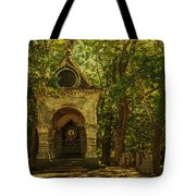Shaded Chapel. Golden Green Series Tote Bag