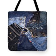 Shades Of Denim Tote Bag