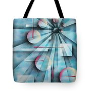 Shades Of Fibonacci Tote Bag