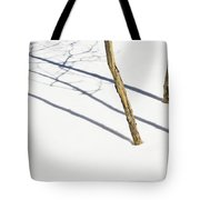 Shadow Of Small Trees On The Snow New Tote Bag