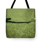 Shadow Playing Tennis Tote Bag