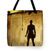 Shadow Wall Statue Tote Bag
